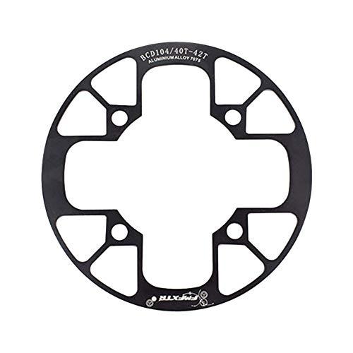 Dogggy 1 StüCke Fahrrad Kettenblatt Schutz Mountainbike Kettenrad Schutz Aluminium Kurbelgarnitur SchutzhüLle 40 T 42 T 104Mm Fahrrad ZubehöR Duarble Einfach Zu Installieren
