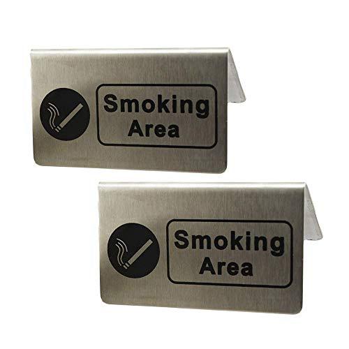 2パソコンステンレス鋼煙エリアサインテントカードレストラン事務所喫煙喫煙許可されたアイコンのロゴパターン