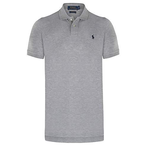 Ralph Lauren - Herren Polo shirt - Custom Slim fit - Hellgrau - L