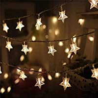 ★Satyam Kraft Star String Light LED lamp beads, which is not easy to fall off. They emit comfortable warm white light, which is very warm and romantic in home decoration, commercial decoration and wedding decoration. ★Satyam Kraft Star String Light W...