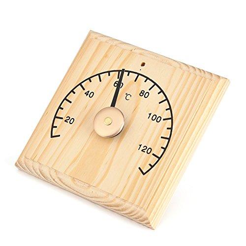 Haofy Saunathermometer aus Holz Sauna Zubehör