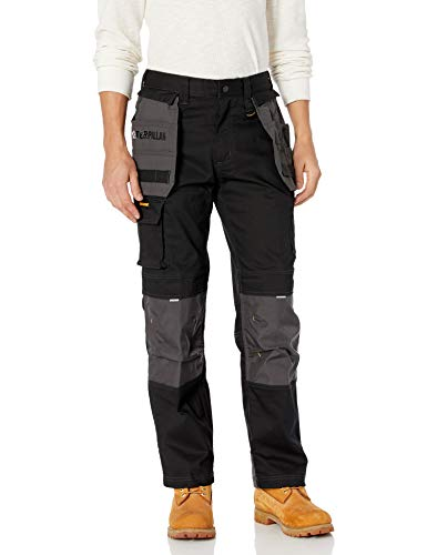 Caterpillar Men's H2O Defender Pant (Regular and Big & Tall Sizes), black/graphite, 40W x 30L