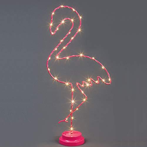 Zeer mooie en decoratieve led-flamingo-lamp met batterijvoeding.