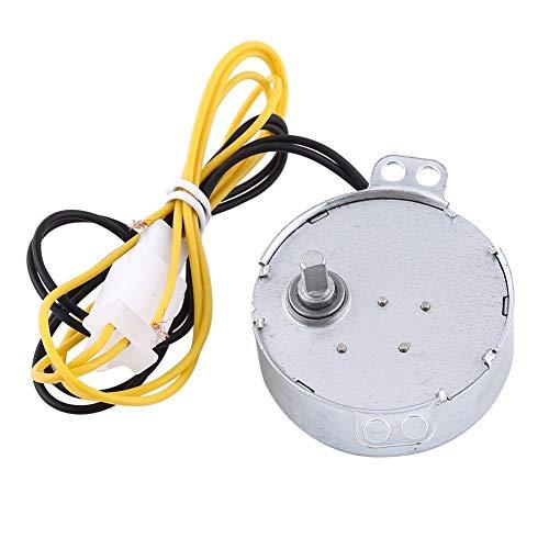 Wosune Motor de incubadora, 2 Tipos Fácil de dañar Incubadora automática de Huevos Conector de CA Motor síncrono, Accesorio de Pato Motor de rotador de Huevos con Conector Volteador de Huevos(220V)