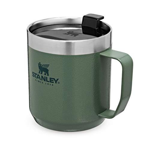 Stanley Classic Legendary Camp Mug 354 ml / 12 OZ Hammertone Green – Doppelwandiger, vakuumisolierter Thermosbecher - BPA-frei -Spülmaschinenfest - Paßt unter die meisten Kaffeevollautomaten