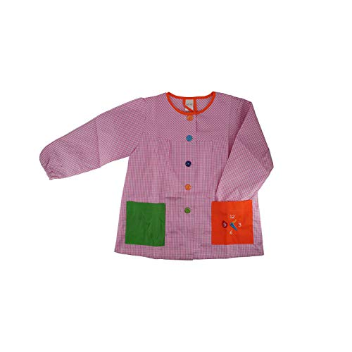 Kiz Kiz Bata Escolar Infantil Baby Infantil de Cuadros Pequeños (Rosa, 2-3 años)