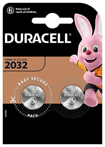 Duracell - CR-2032 - Batteria a bottone al litio, confezione da 1 pezzo, 3,0V