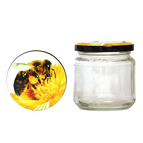 Germerott Bienentechnik 60 x Rundglas 212ml 250g mit 66er Twist-Off Deckel Biene Preis pro Stück 0,715 Euro