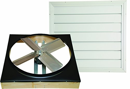 Cool Attic CX302DDWT Direct Drive 2-Speed Whole House Attic Fan with Shutter, 30 Inch