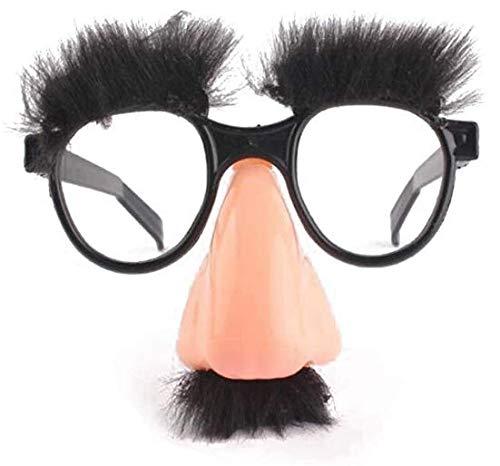 Lankater Lustige Kostüm Halloween Große Nase Bart Brille Disguise Augenbrauen Und Schnurrbart Brille Fake-nasen-Partei Props