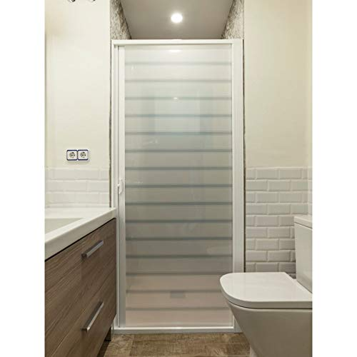 Roll System Mampara Ducha Enrollable. Extensible 60-90 cm Ancho. Puerta Blanca. Aluminio Blanco. Ecológica. Autolimpiable. Marca CE.