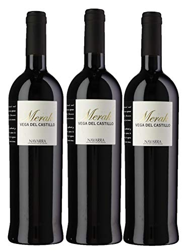 Merak - Vino de Autor Crianza - DO Navarra - Pack de 3 botellas 750ml - Total 2250ml