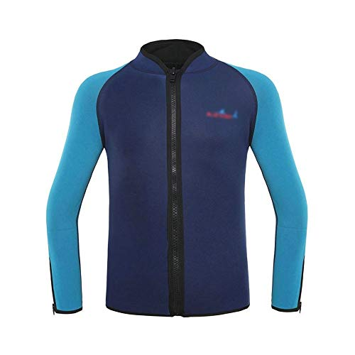 LINDANIG Erwachsene 2mm Taucherjacke zum Schnorcheln von Anzug Surfkleidung Canyoning warm (Farbe : Marine, Size : XL)