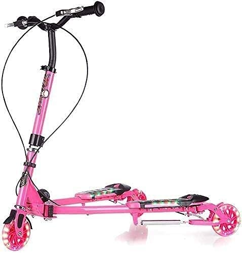 monopatín patinete Scooter de patada plegable   3 alturas Scooters de la ciudad ajustables con ruedas intermitentes   Freno de doble mano / trasero, para niños, adolescentes y adultos, 100 kg de carga