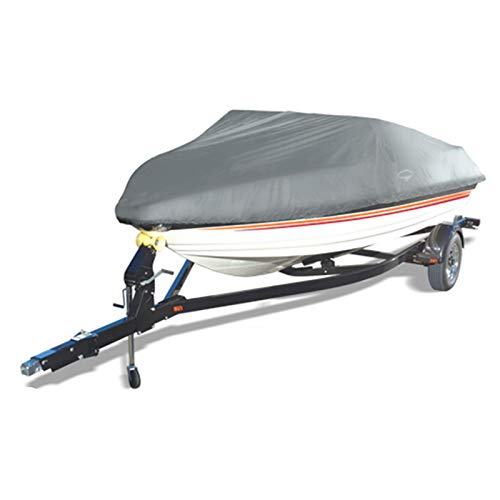 Offshore Easy Slip On Mooring Boat Covers by Wake (Model C) (Grey, Fits: 16 to 18.5-Feet)