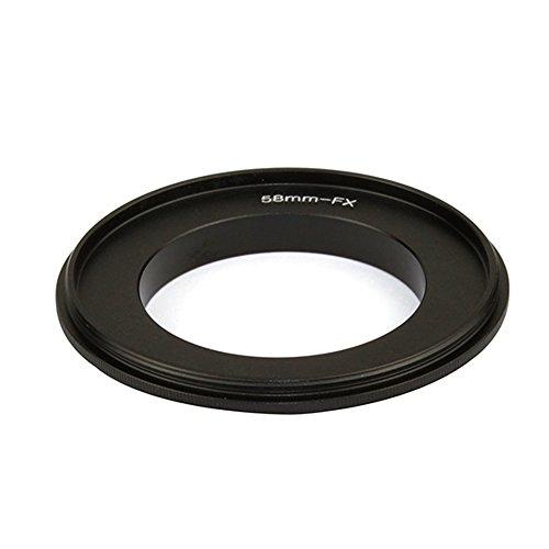 Anillo adaptador de macro inverso de lente de 58 mm para cámara Fujifilm X