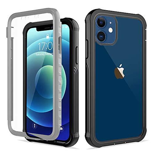 ROSEHUI Klare 360-Grad-Ganzkörper Schutzhülle Stoßfänger Gehäuse iPhone 11 mit integriertem Displayschutz Stoßfängersicheres, kratzfestes, Robustes