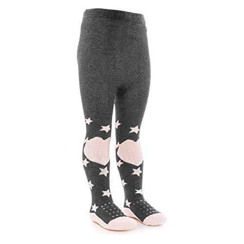 LaLoona Baby Krabbelstrumpfhose mit ABS Sohle - elastische Kinder Strumpfhose mit Anti Rutsch Noppen...