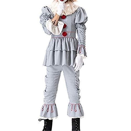 Disfraz de payaso espeluznante de la película Penny Wise The Dancing Clown para disfraz de Halloween