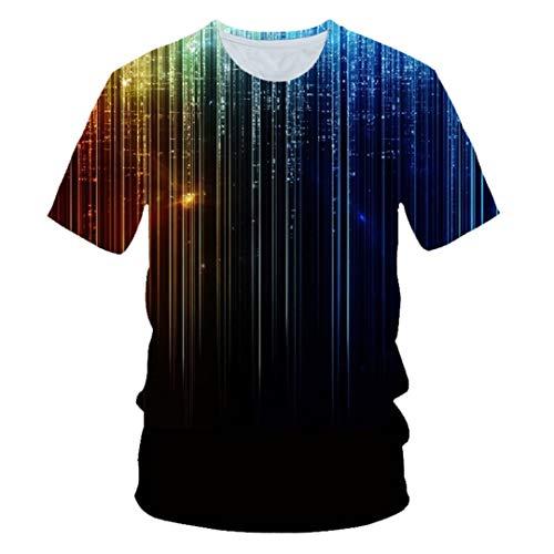 Niños de Verano 3D Camiseta niños niñas Colorido Hielo y Fuego Galaxia Espacio Estilo Camiseta Picture Show Dt-098 13t