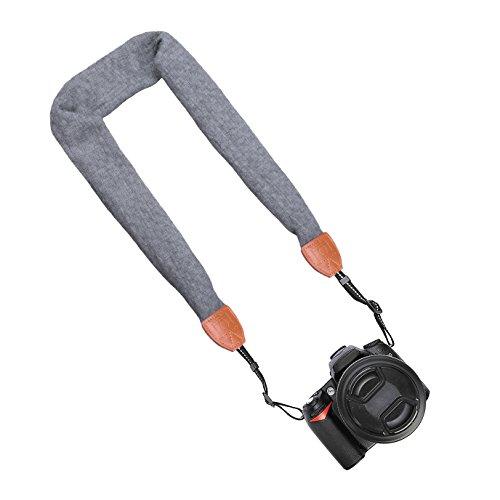 HOTSEALシェブロンスカーフスーパー快適なカメラストラップ(グレイ)