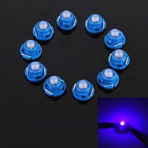Auto-Instrumentenbeleuchtung Jrc 10PCS 2W T4.7 Wedge Instrumententafel LED-Licht Armaturenbrett Messgerät Cluster-Anzeigelampe Birne (blaues Licht) Auto-Innenbeleuchtung (Color : White Light)