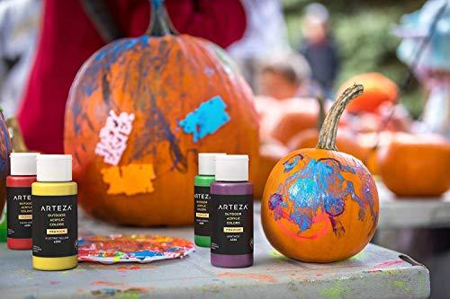 Arteza-Outdoor-Acrylic-Paint-Set-of-20-ColorsBottles-2-oz59-ml-Rich-Pigment-Multi-Surface-Craft-Paints-Art-Supplies-for-Canvas-Rock-Wood-Fabric-Leather-Paper