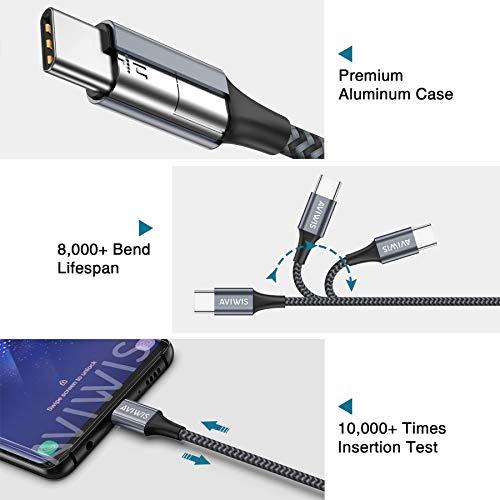 AVIWIS USB Typ C Kabel 5A 2M USB Typ C Schnell Ladekabel Super Charge Datenkabel für Huawei P40 P30 P20 P10 Pro P40 Lite Mate 30 Mate20 Pro Mate9 Mate10 Plus P9 Nova5 Pro