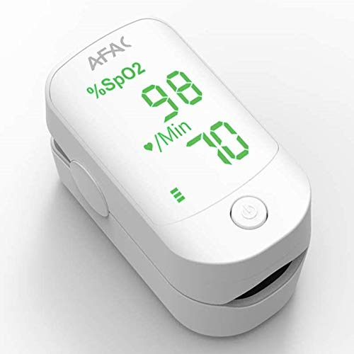 AFAC Pulsioximetro de Dedo, Oxímetro Dedo, Medición de Frecuencia Cardíaca la Saturación de Oxígeno, Para el Cuidado de la Salud Familiar, Lectura Instantánea con Pilas y Cordón, Aprobado por CE FDA