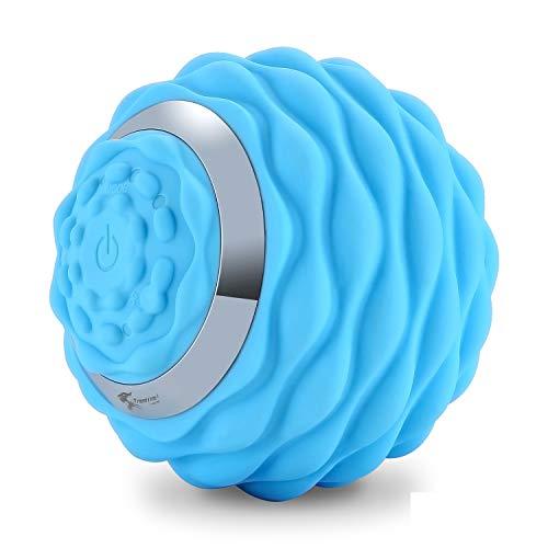 Deep Tissue Vibrating Massage Ball, 4-Speed High-Intensity Fitness Yoga Massage Roller, Massage...