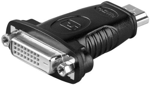 Goobay 33902 Adaptador HDMI™/DVI-D niquelado - HDMI™ Macho (Tipo A) > DVI-D Hembra Dual-Link (24+1 Pin)