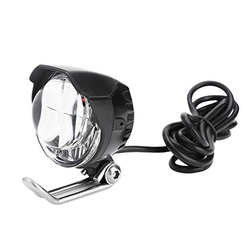 CHICIRIS Luz de Punto de Bicicleta Luz de bocina de Bicicleta eléctrica, 2 en 1 bocina Luz de Cabeza LED Lámpara Frontal Brillante 12V-80V para ciclomotor de Bicicleta eléctrica