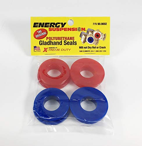 Energy Suspension 90.9002 Red & Blue Poly Glad Hand Seals (4 Pack)