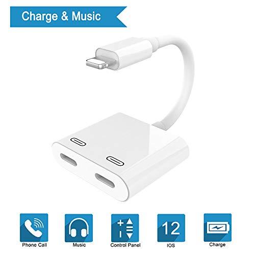 Dubbele Adapter Voor Iphone 11-7 PLUS, 4-In-1 Splitter/Kabel Voor Audio En Oplader, Ondersteunt Afstandsbediening En Telefoon