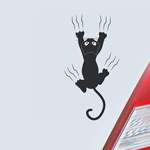 Mooie kleine kat die de muur met tatten-autostickers voor auto-raam-deur-achterste voorruit bekrast