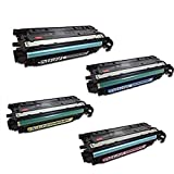 TonerBoss Remanufactured Toner Cartridge Replacement for HP 647A/648A ( Black,Cyan,Magenta,Yellow , 4-Pack )