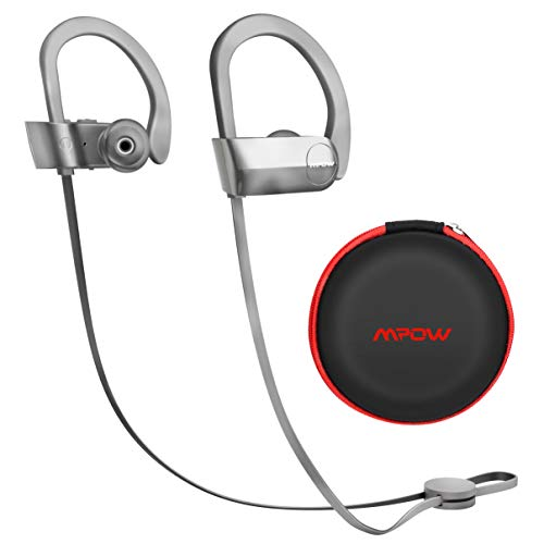 Mpow [Upgraded] D7 Bluetooth Headphones, IPX7 Waterproof Wireless Sports Earbuds with Mic, Stereo Sound 10~12H Battery Noise Cancelling Mic for Running, Jogging, Cycling, Exercising, Workout