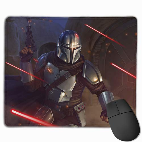 Mand-alorian Yo-da Ba-by Gaming Mouse Pad with Stitched Edge Non-Slip Waterproof Rubber Base Large MousePads for Laptops Computers and PC