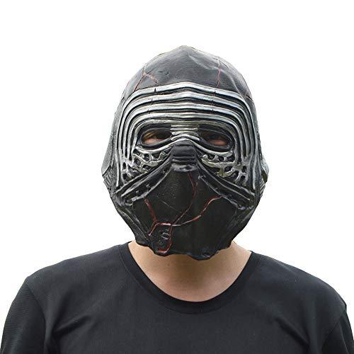 HOOLNB Halloween-Maske, Helm, Maske, Black Warrior Klon, Weißer Soldat Maske,...