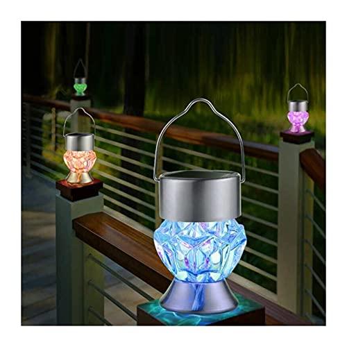Lampe solaire LED DIAMANT Forme Petite Lanterne EXPLOIT EMTOLEILLEMENT EMPANCHÉRAIENT CORRECTURE DE VILLA DE CORRIDOR CORRIDOR CAMPING CAMPING Lampe suspendue (Emitting Color : Colorful light 1 pcs)