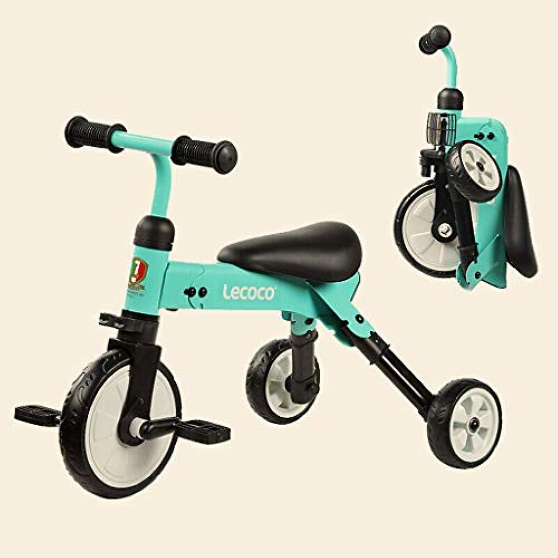 ZLMI Kinder Dreirad, 1-4 Jahre alt Kinderwagen Spielzeugauto Jungen und Mdchen Baby Folding Dreirad Pedal Fahrrad Einfache InsGrößetion
