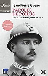 livre Paroles de poilus : Lettres et carnets du front (1914-1918)