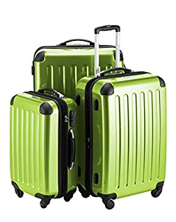 HAUPTSTADTKOFFER - Alex - Set of 3 Hard-side Luggages Trolley Suitces Expandable, (S, M & L), applegreen (B004WNN1V6) | Amazon price tracker / tracking, Amazon price history charts, Amazon price watches, Amazon price drop alerts
