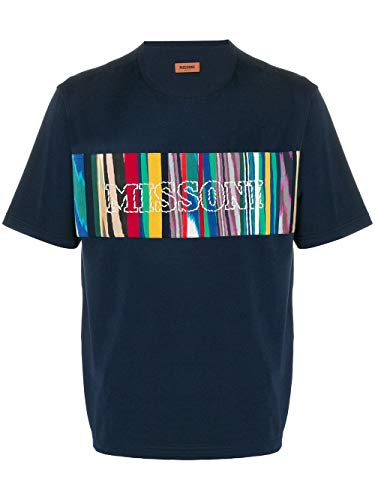 Missoni Box Logo Tee Navy T-Shirt Uomo tg. M