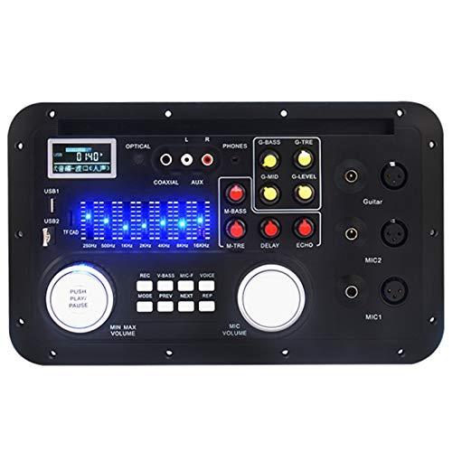 SNOWINSPRING DSP MP3 Decoder Board Karaoke Preamp Mixer EQ Ecualizador Coaxial de Fibra Sin PéRdida para Amplificador de Audio Home Theater