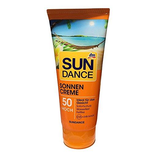 Sundance Sonnencreme Ideal für das Gesicht,LSF 50 (100ml Tube)