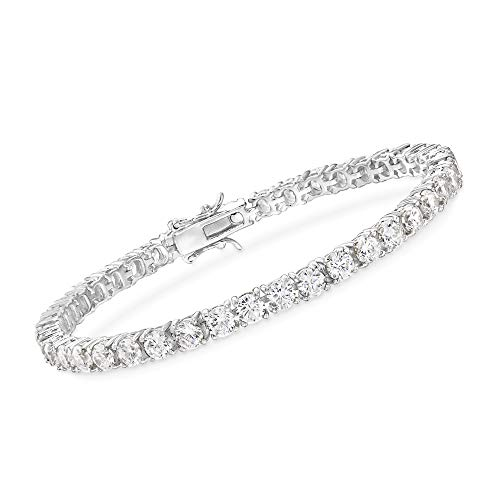 Ross-Simons 11.50 ct. t.w. CZ Tennis Bracelet in Sterling Silver. 8 inches