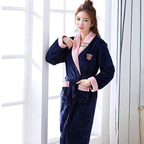 JBDGNZ Albornoz de Mujer,Albornoz de Invierno para Mujer, Kimono de Terciopelo de...