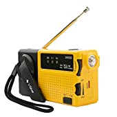Wind Up Portable Radio, Radio & LED Torch with Built In Rechargeable Battery and Emergency Siren Ideal For Camping, Worksite, Outdoor & Emergencies