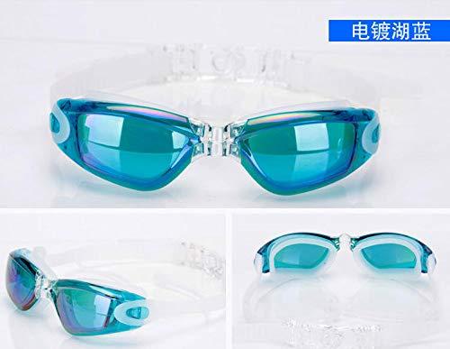 LLXHG Gafas Antiniebla Tapones para Los Oídos De Silicona Gafas De Natación Impermeables De Una Pieza Película De Recubrimiento Hombres Y Mujeres Adultos Disponibles
